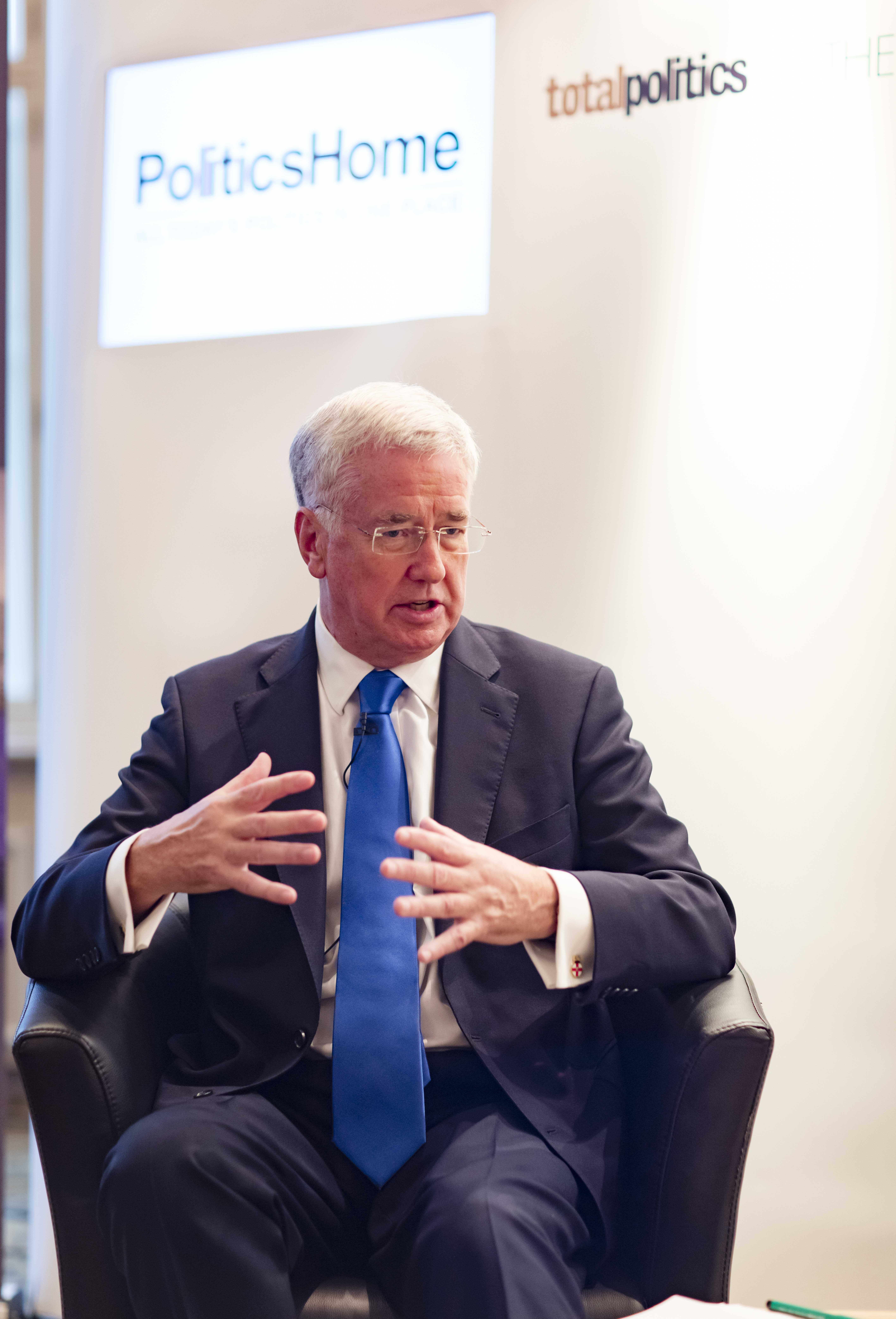 Rt Hon Sir Michael Fallon MP speaking at the BAE Systems fringe event