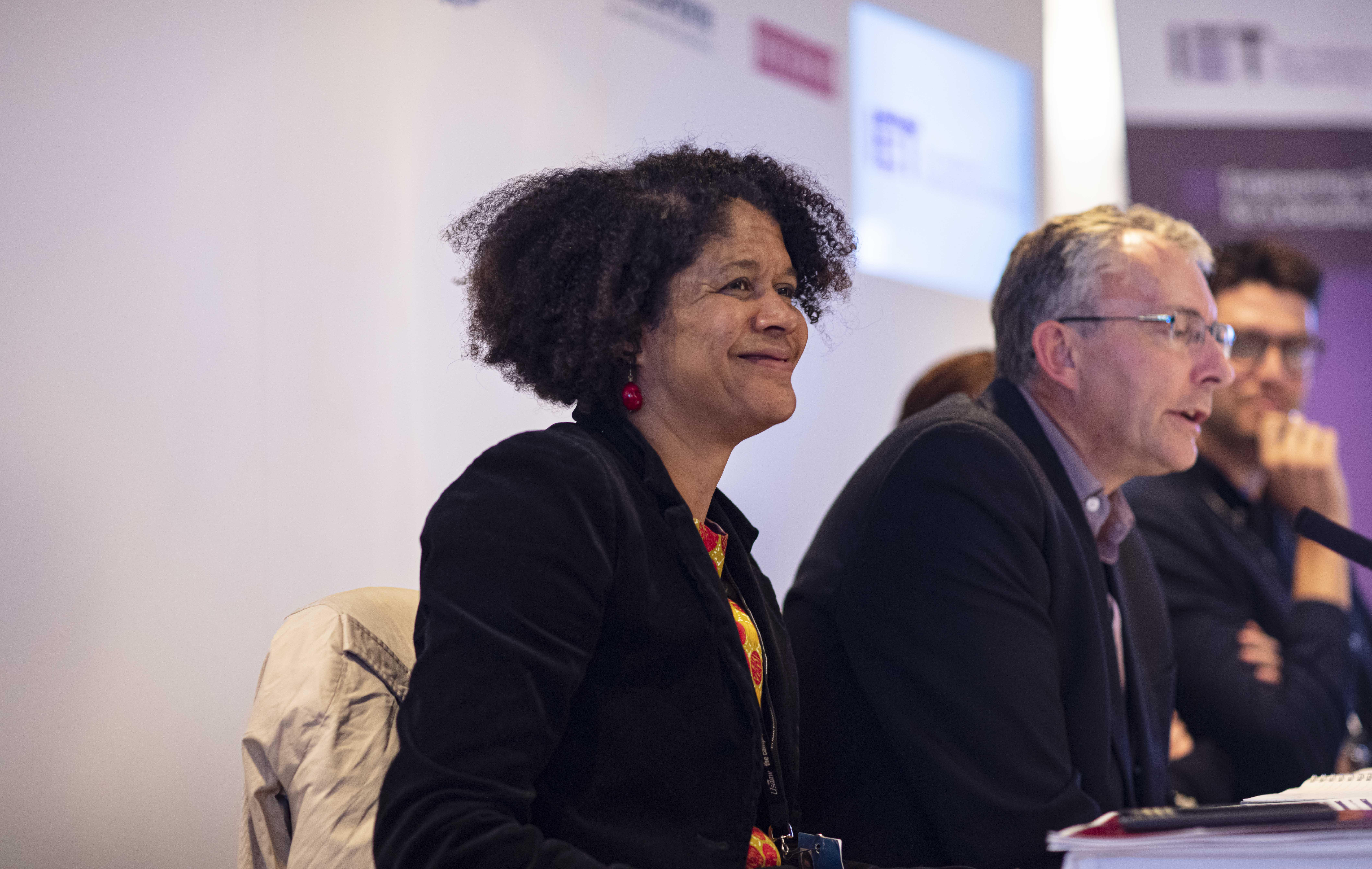 Chi Onwurah MP speaking at IET's Engineering Solutions for a Decarbonised World Fringe