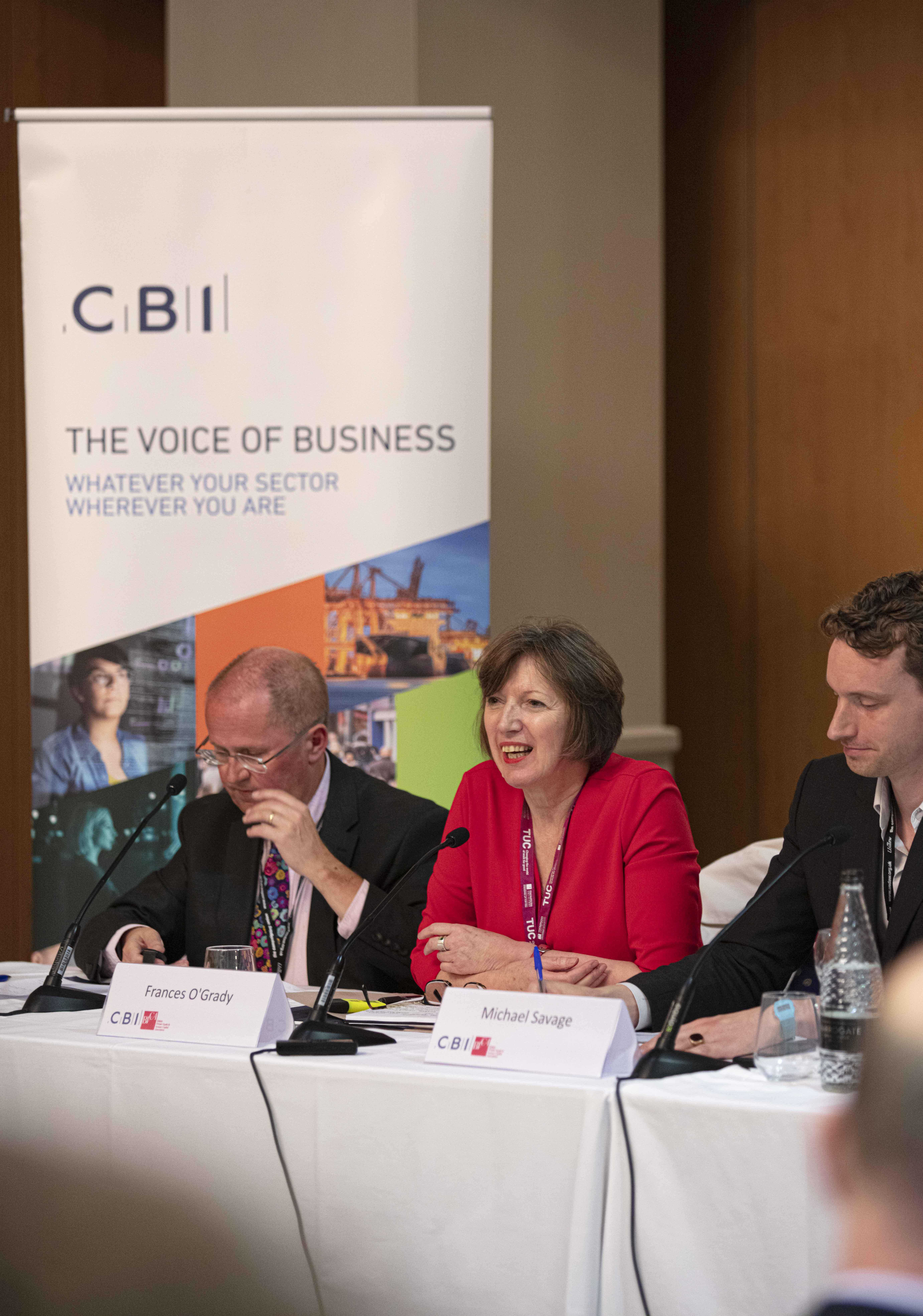 Peter O'Dowd MP speaking at the CBI Fringe