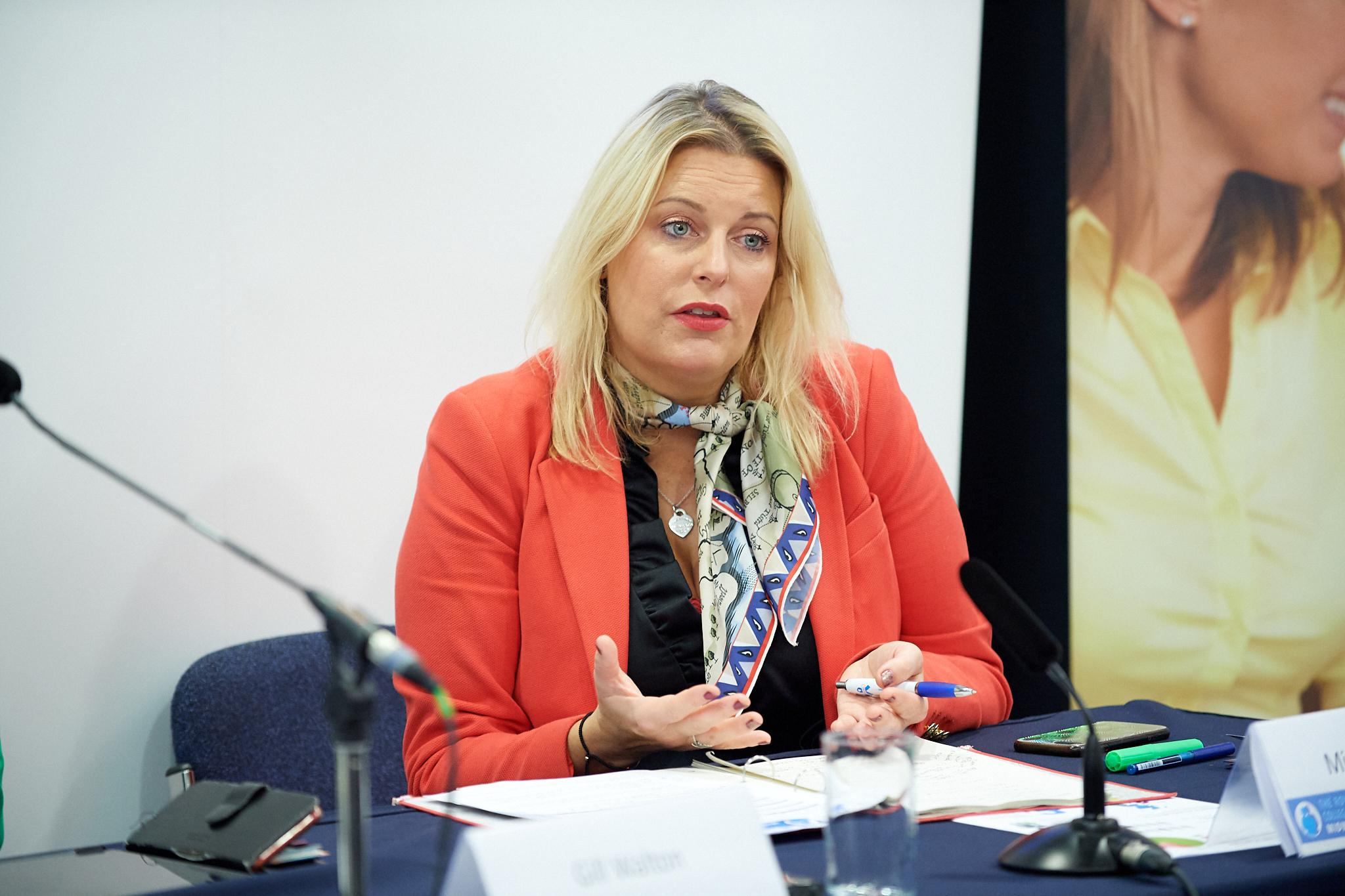 Mims Davies MP speaking at The Royal College of Midwives Fringe